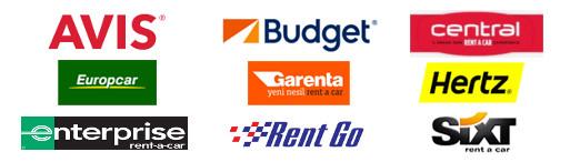 Tüm araba kiralama logoları